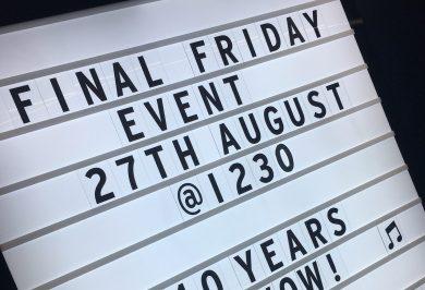Final Friday Club August
